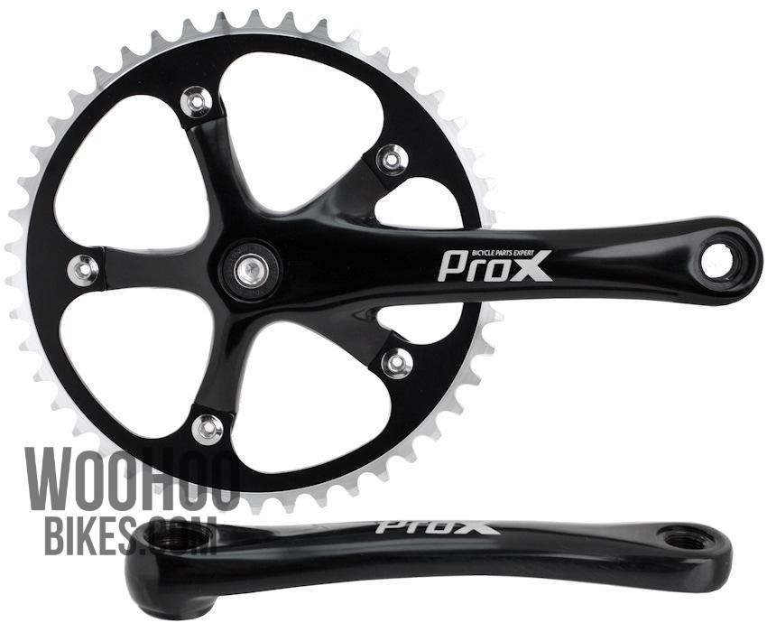 Fixed gear Single Speed Track Cranks Crankset 170mm 46t Silver Black