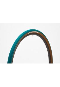 Opona Panaracer GravelKing 700x32C niebiesko-brązowa aramid, gładki bieżnik