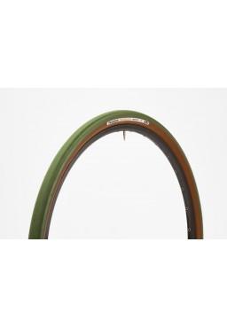 Opona Panaracer GravelKing 700x38C zielono-brązowa aramid, gładki bieżnik