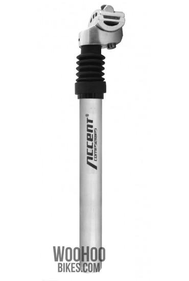 Sztyca Wspornik ACCENT SP-886, 25,4mm, Amortyzowana Srebrna