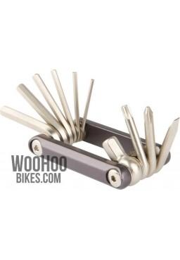 Zestaw kluczy, Narzędziownik Rowerowy ACCENT AC-10 10 funkcji, aluminium, grafitowy