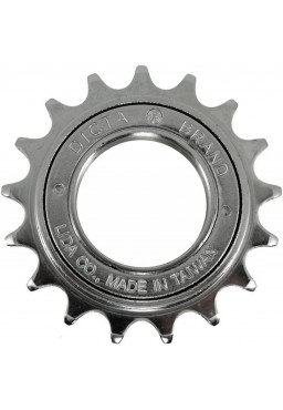 "Dicta A8K 16T Single Speed Freewheel 1/2"" x 1/8"" Wide - Chrome Fixie Bike Sprocket"
