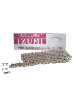 "IZUMI STANDARD SILVER 1/2"" x 1/8"" Chain for Track, Fixed Gear, Single Speed Bike"