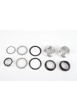 Tange Seiki Passage 1 Inch  Threaded Headset - silver