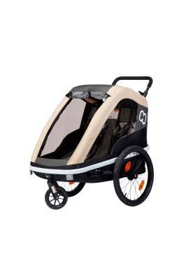 Hamax Avenida Bicycle Trailer - Coffe, Light brown