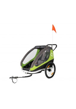 Hamax Traveller Twim Bicycle Trailer - Green