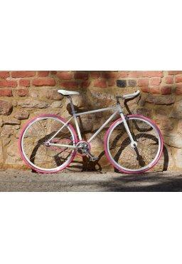 "Woo Hoo Bikes - PINKY 19"" - Fixed Gear Track Bicycle"