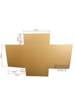 Karton z regulacją wysokości 632mm x (od 30mm do 150mm) x 632mm