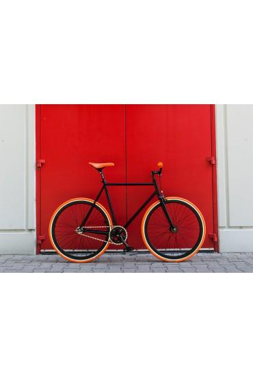 "Woo Hoo Bikes - ORANGE 19"" - Fixed Gear Track Bicycle"