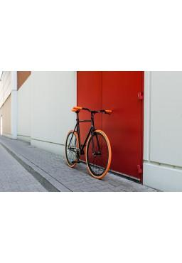 "Woo Hoo Bikes - ORANGE 15.5"" - Fixed Gear Track Bicycle"