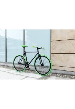 "Woo Hoo Bikes - GREEN, 15.5"" - Fixed Gear Track Bicycle"
