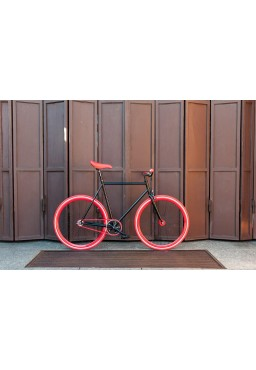 Rower Woo Hoo Bikes - RED, 19'', Ostre Koło, Torowy