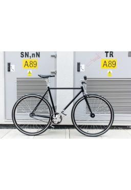 """Woo Hoo Bikes - Classic Black 19"""" - Fixed Gear Track Bicycle"""