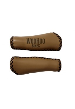 Leather Handlebar Grips, Beige - for Beach Cruiser, Urban Bicycle