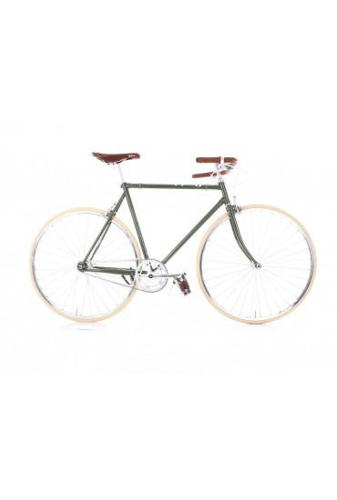 "Cheetah Prey – Cafe Racer 23"" Green Bicycle"