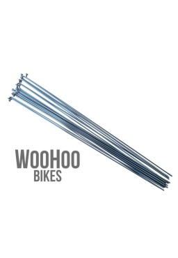 Pillar 278mm Stainless Steel Spokes, Silver 18pcs.