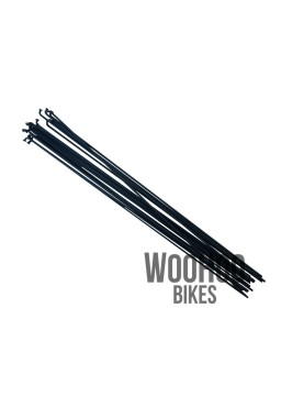 Pillar 266mm Stainless Steel Spokes, Black 18pcs.