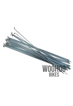 SLE Spokes 250mm Steel, Silver 36pcs.