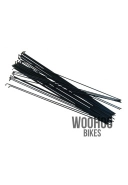 SLE Spokes 250mm Steel, Black 36pcs.
