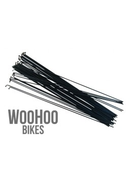 SLE Spokes 279mm Steel, Black 36pcs.