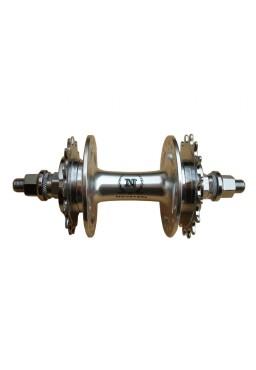 NOVATEC Rear Hub, Low Flange, Fix 16T / Fix17T Speed 32H Silver