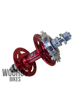 NOVATEC A166SBT Rear Hub, Freewheel, Fixed Gear/Single Speed 36H Red