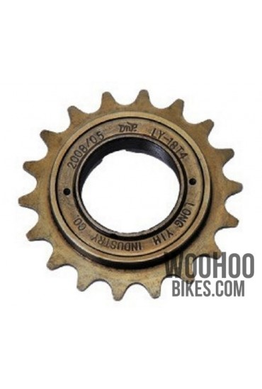 "Freewheel Single Speed DnP 18T wide 1/2x1/8"" Bronze"