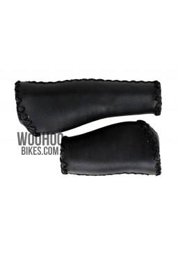 Velo Prox Bicycle Handlebar 140mm/95mm Retro Grips for Urban, Cruiser Bike - Black