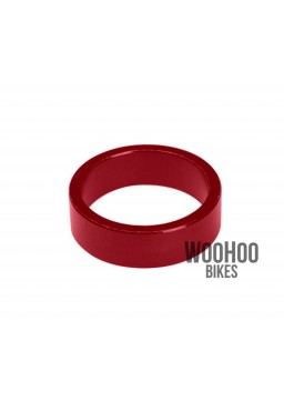 "ACCENT Headset Spacers 1-1/8"" 10mm Alluminium Red"