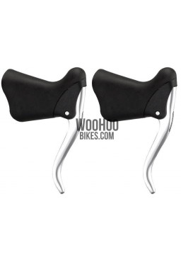 ALHONGA HJ-272AQ Road, Fixed Gear Bicycle Brake Levers - Silver and Black