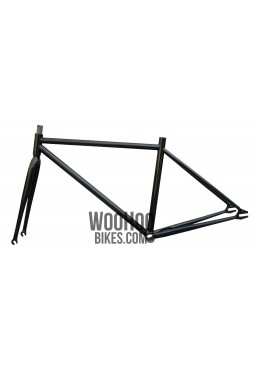 """Fixed Gear Track Bicycle 15.5"""" Steel Frame with Fork Black"""
