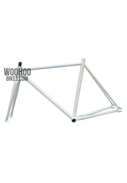 """Fixed Gear Track Bicycle 19"""" Steel Frame with Fork White"""