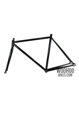 """Fixed Gear Track Bicycle 19"""" Steel Frame with Fork Black"""
