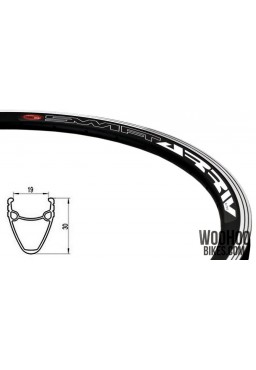 "Rim 28"" 700C 36H 30mm Fixed Gear Road Black"