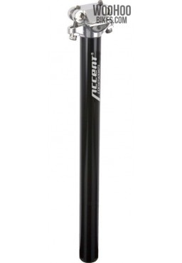 ACCENT SP-408 Bicycle Seatpost 25.8mm Black