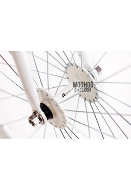 JOYTECH Front Hub, Fixed Gear, Road Bike, Track 36H White
