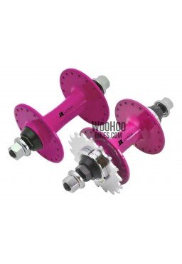 JOYTECH Front & Rear Hub Set, Fixed Gear, Road, Track 36H Magenta