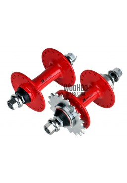 JOYTECH Front & Rear Hub Set, Fixed Gear, Road, Track 36H Red