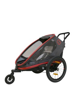 Hamax Outback One Bicycle Trailer - CharcoalRed/Charcoal