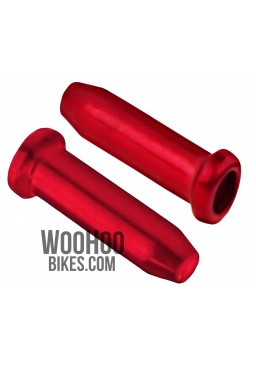 ACCENT Universal Brake or Derailleur Cable Ends 2 pcs. Red