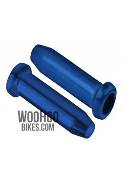 ACCENT Universal Brake or Derailleur Cable Ends 2 pcs. Blue
