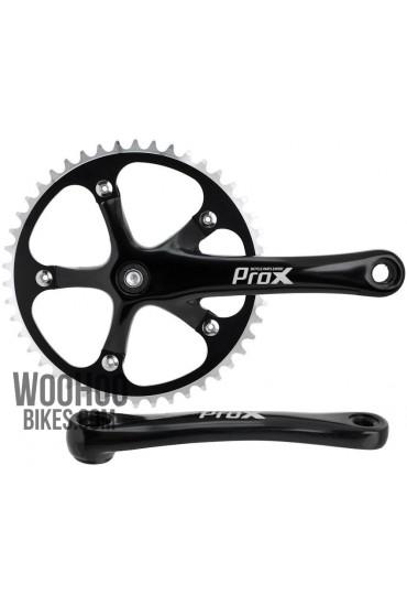Crank Set PROX, Track Bike, Fixie, Single Speed 1/8'' - 46T Black