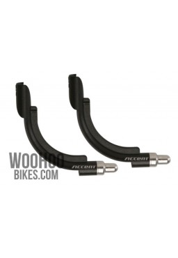 ACCENT V-Brake Cable Noodle, Plastic Guide Pipe 90° Black