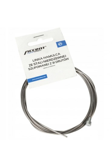 ACCENT Shimano, Sram, brake inner cable, stainless steel 1.6mm x 1700mm
