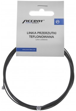ACCENT PTFE made with Teflon coated Derailleur cable, 1.2mm x 2000mm