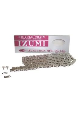 "IZUMI STANDARD SILVER 1/2"" x 1/8"" Chain for Track, Fixed Gear, Single Speed Bike"