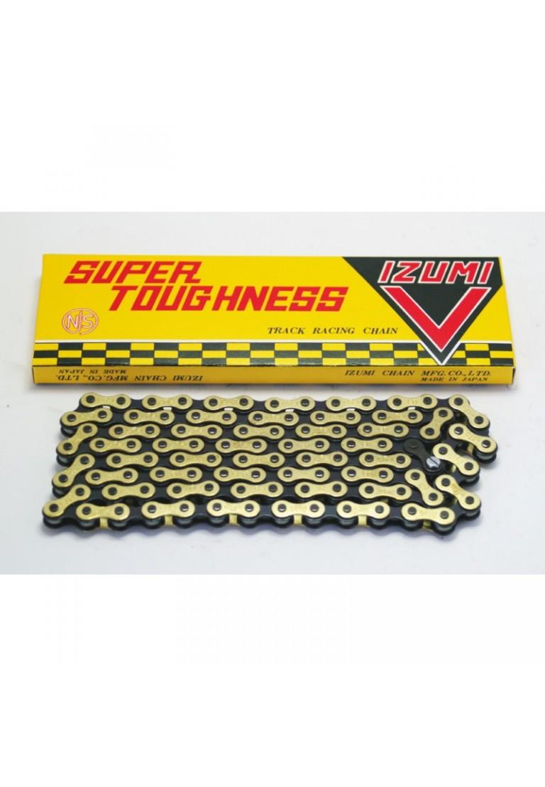 """Izumi Super V 1//2/"""" x 1//8/"""" x 106 Link Black /& Gold Chain"""