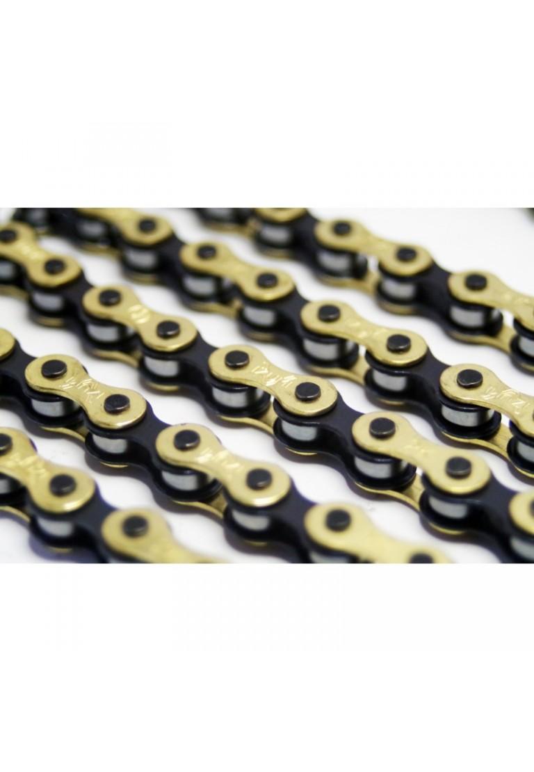 """Izumi Chain V Super Toughness 1//8/"""" Chain Gold//Black"""
