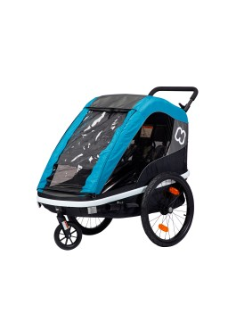 Hamax Avenida Twin Suspension Child Bike Trailer & Stroller - Blue