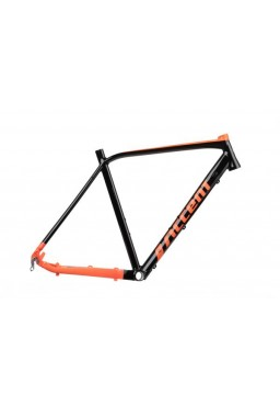 ACCENT FURIOUS Cyclocross Gravel Bike Frame black / orange glossy Size S (52cm)